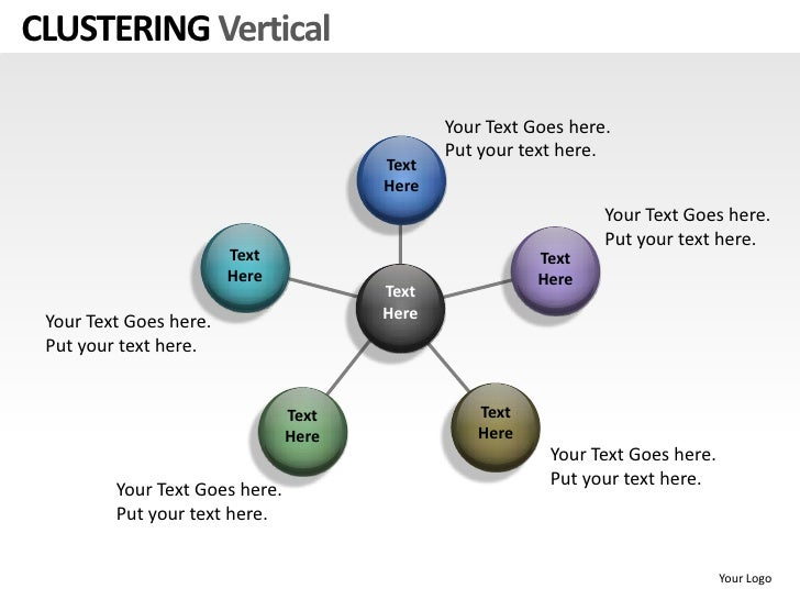 Clustering vertical powerpoint presentation templates