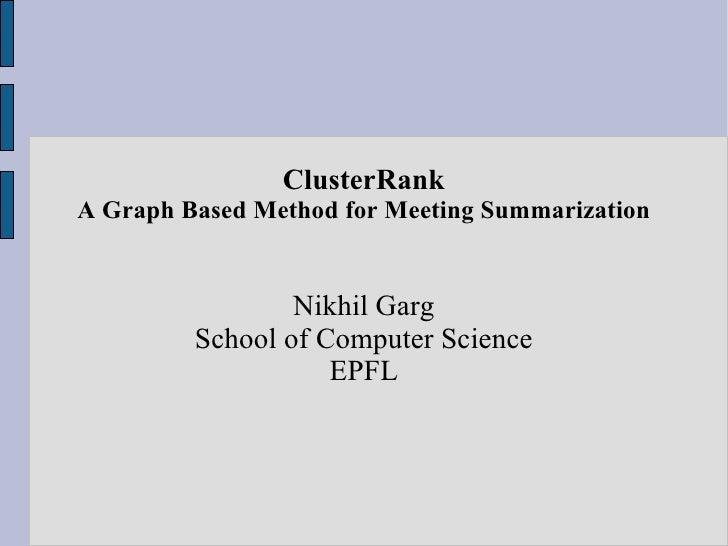 Clusterrank