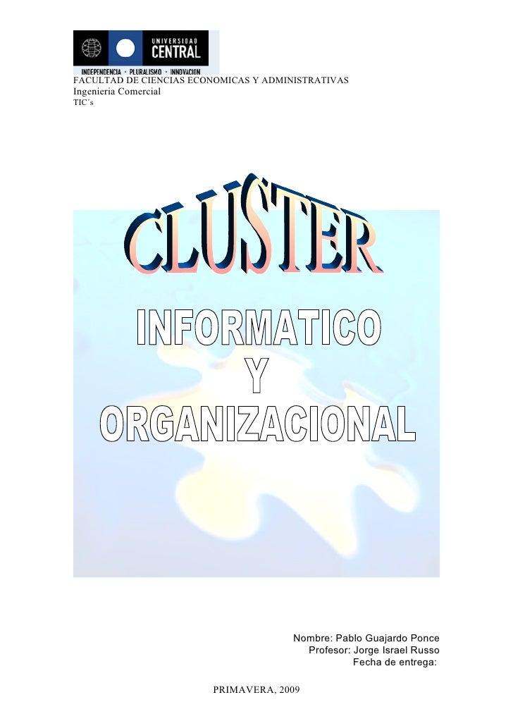 FACULTAD DE CIENCIAS ECONOMICAS Y ADMINISTRATIVAS Ingenieria Comercial TIC´s                                            No...