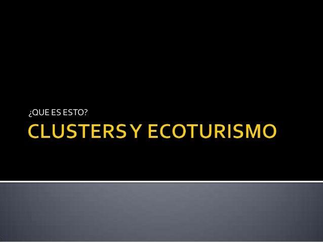 Creación de clusters para empresas e instituciones