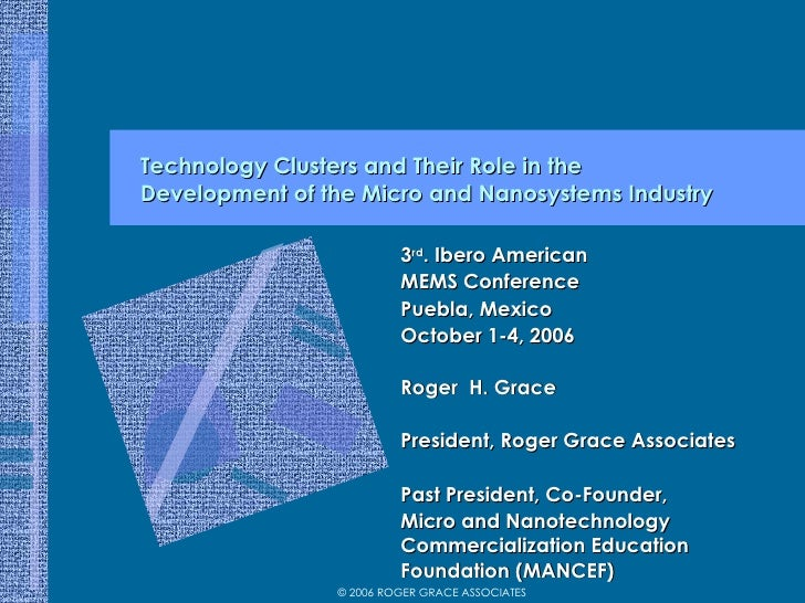The Role of Technology Clusters in the Successful Commercialization of MEMS