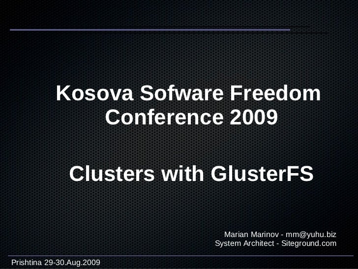 Clusters with gluster fs