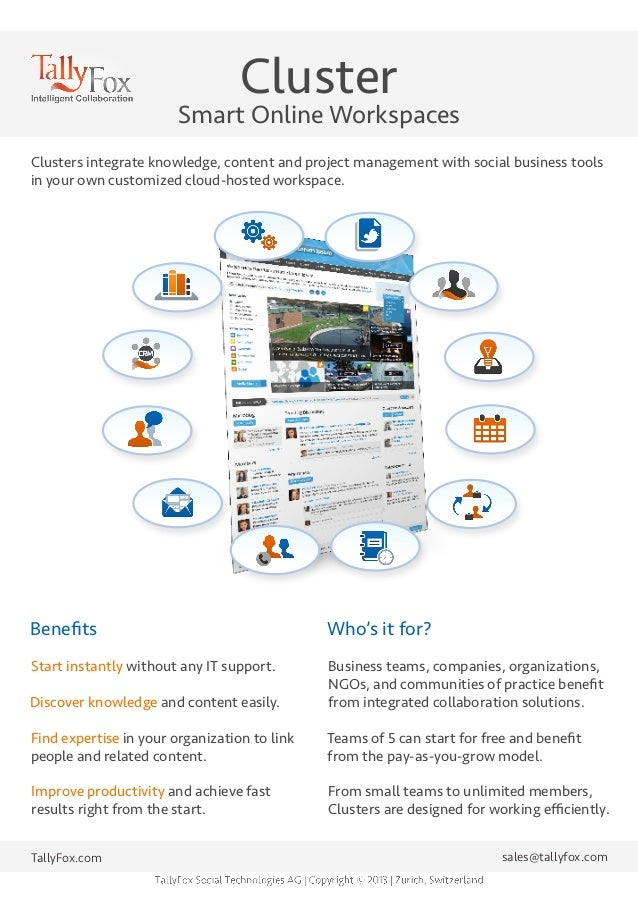 Cluster - Smart Online Workspaces