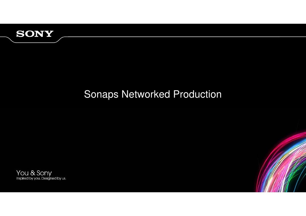 Sonaps Networked Production