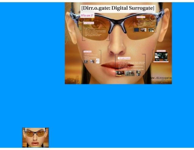 Digital Surrogates - Our Transhuman Future. For those interested