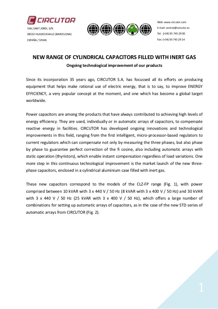 Gas Filled Capacitor Technology