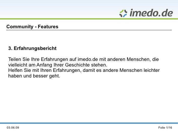 "Community-Feature ""Erfahrungsberichte"""