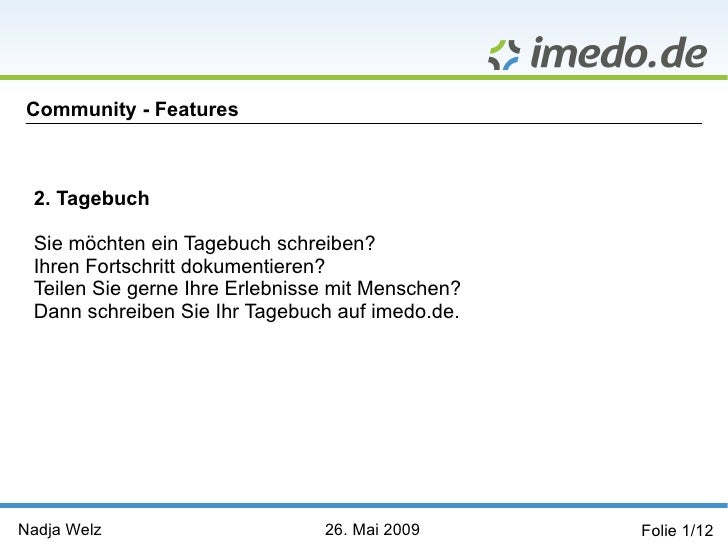 "Community-Feature ""Tagebuch"""