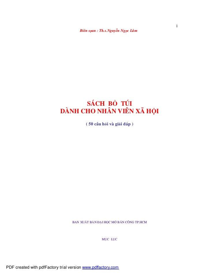 1                                        Biên sọan : Th.s.Nguyễn Ngọc Lâm                                       SÁCH BỎ TÚ...