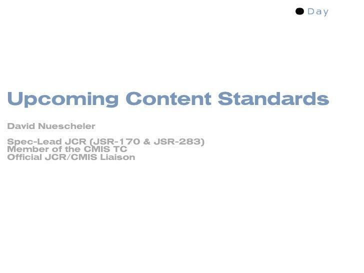 FrOSCamp Zurich: Content Management Standards