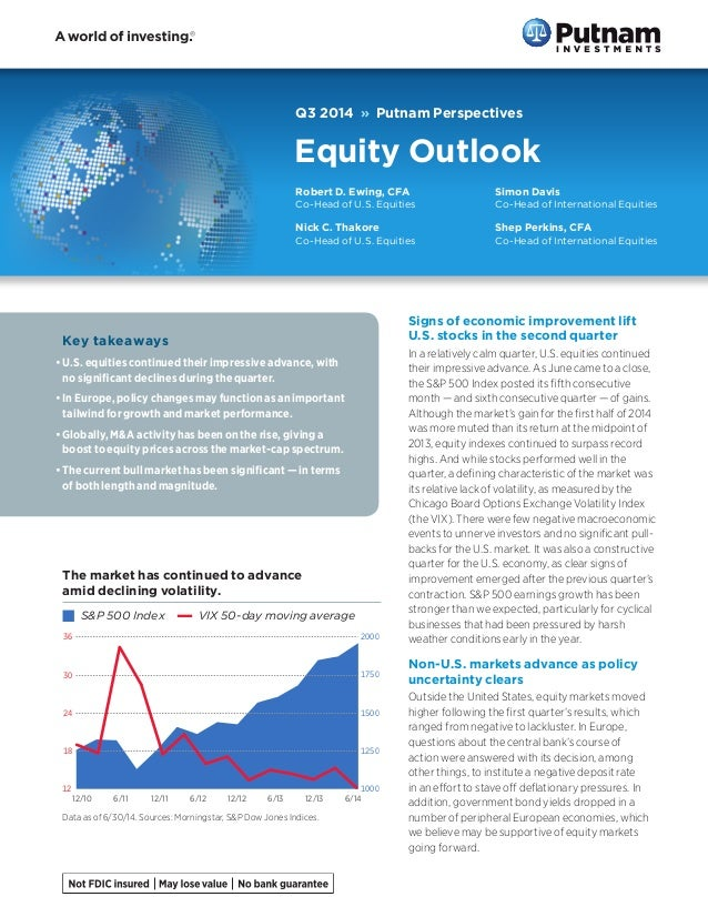 Q3 2014 » Putnam Perspectives Equity Outlook Key takeaways •	U.S. equities continued their impressive advance, with no sig...