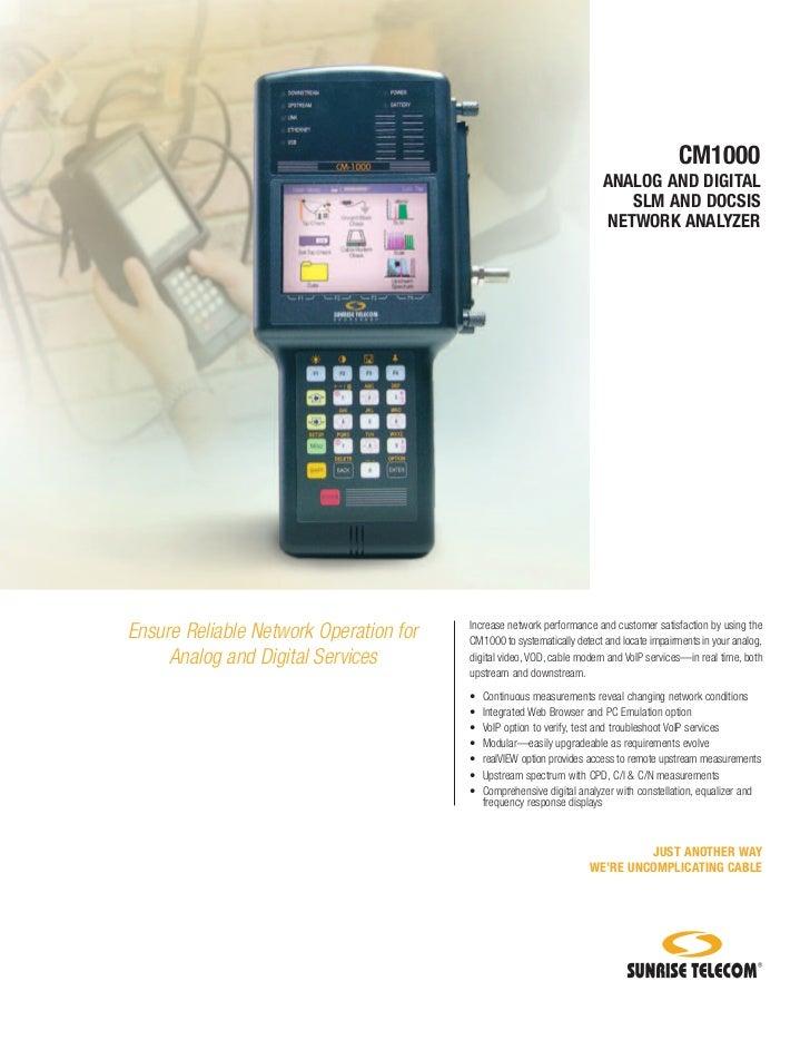 CM1000                                                                       ANALOG AND DIGITAL                           ...