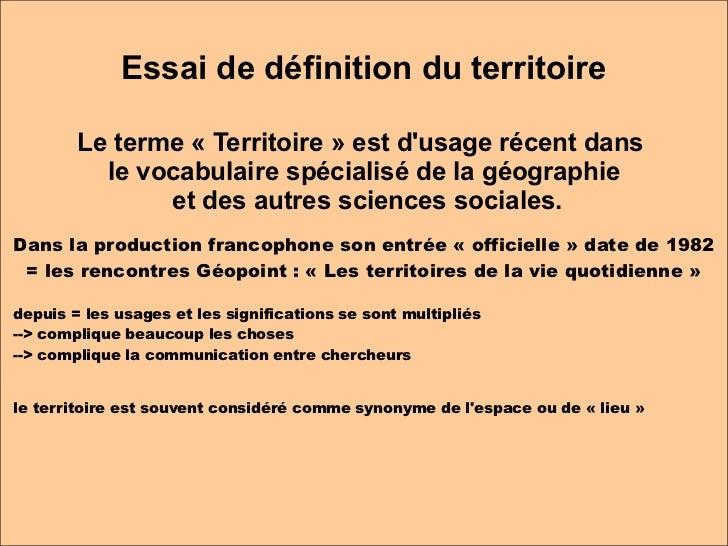 G ographie des territoires l2 s3 historiens for Terris meaning