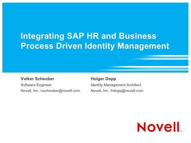Integrating SAP HR and Business Process Driven Identity Management