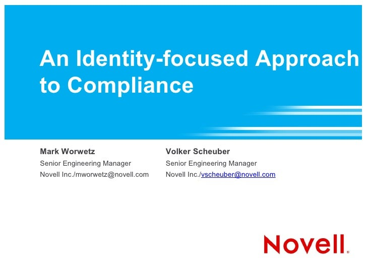 An Identity-focused Approach to Compliance