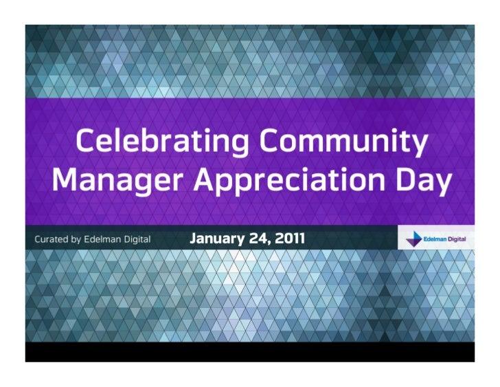 Edelman Digital Celebrates Community Manager Appreciation Day
