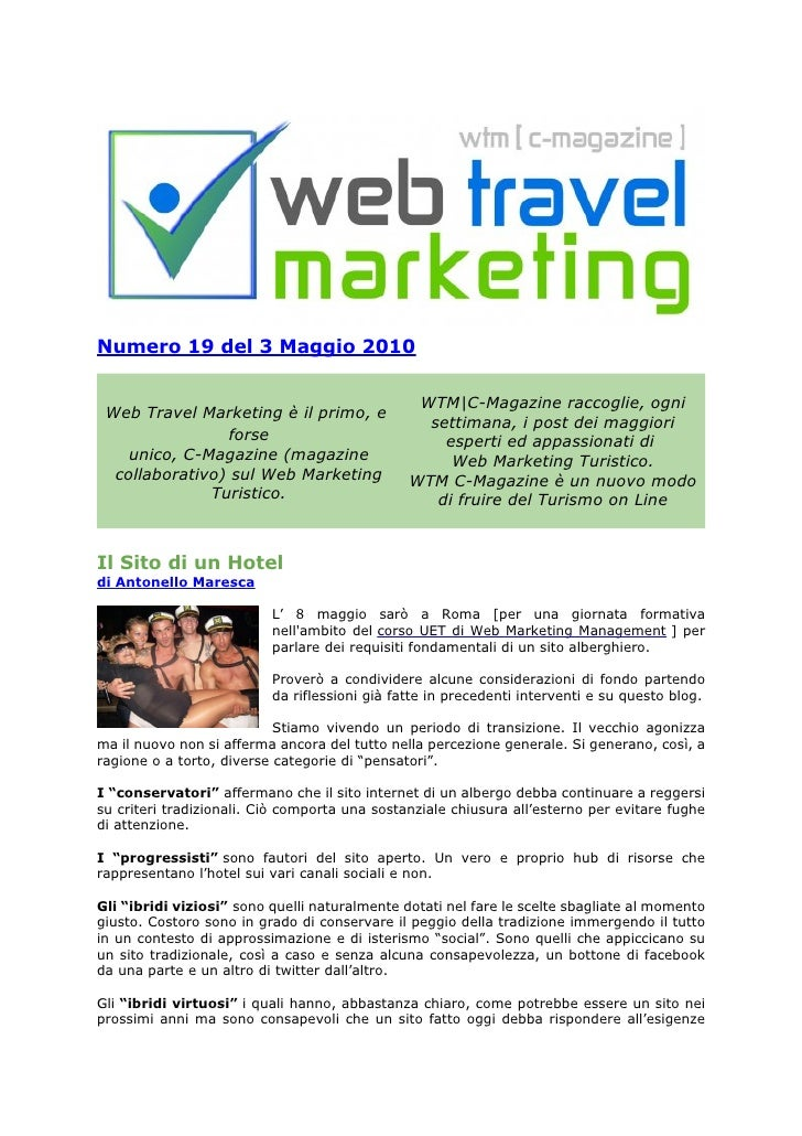 Web Travel Marketing Magazine N° 19