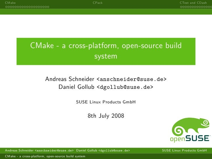 CMake                                                 CPack                        CTest and CDash                    CMak...