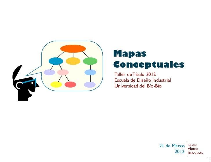 MapasConceptualesTaller de Título 2012Escuela de Diseño IndustrialUniversidad del Bío-Bío                      21 de Marzo...