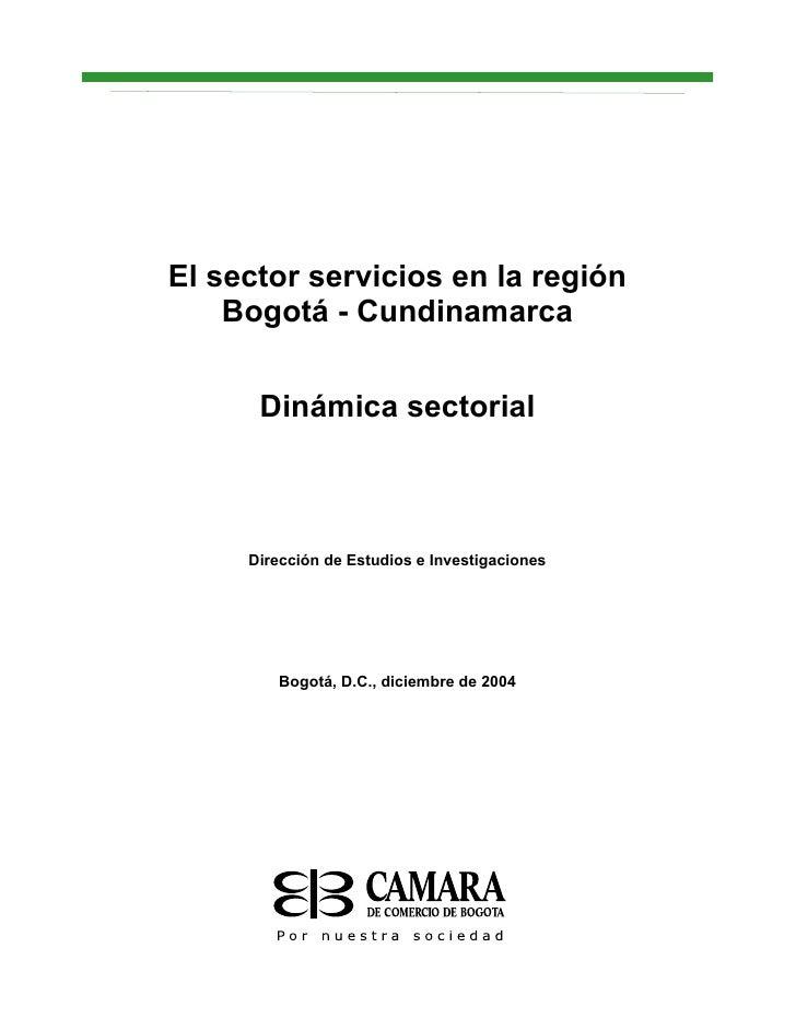 Cámara de comercio sector servicios