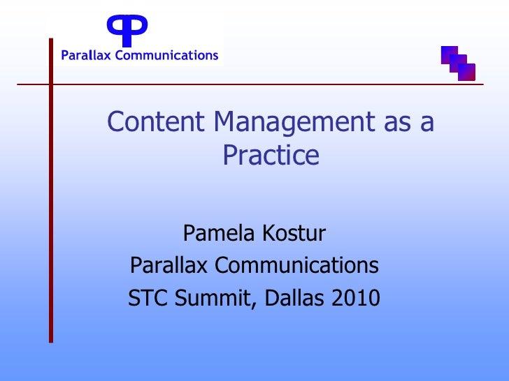 Cm as a practice slides