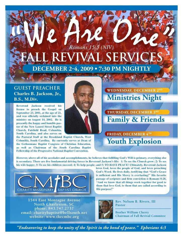 fall revival flyer