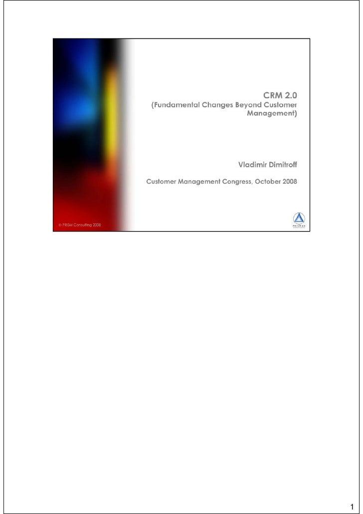 CRM 2.0 - Fundamental Changes (print version)