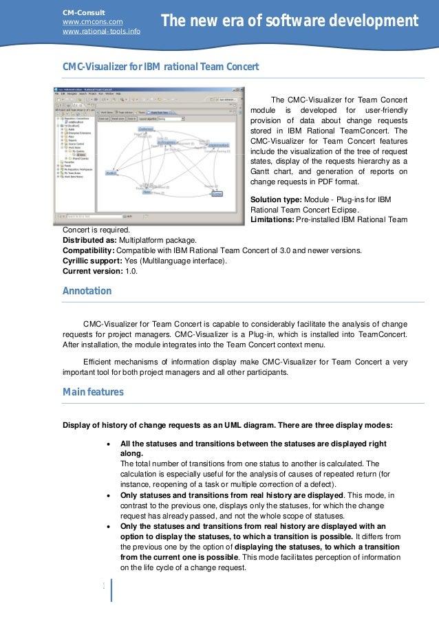 CMC-Visualizer for IBM Rational Team Concert