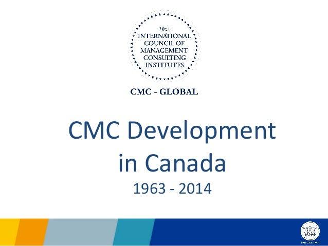 CMC  Development   in  Canada   1963  -‐  2014