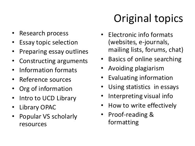 list of essay topics for college