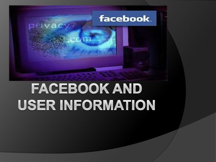 Facebook Sells UserInformation to 3rd Parties Facebook and social media sites  actively distribute your personal  informa...