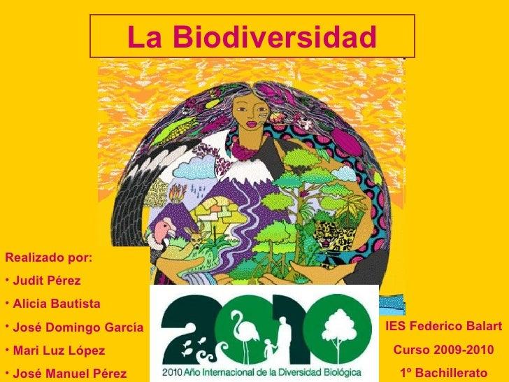 La Biodiversidad <ul><li>Realizado por: </li></ul><ul><li>Judit Pérez </li></ul><ul><li>Alicia Bautista </li></ul><ul><li>...