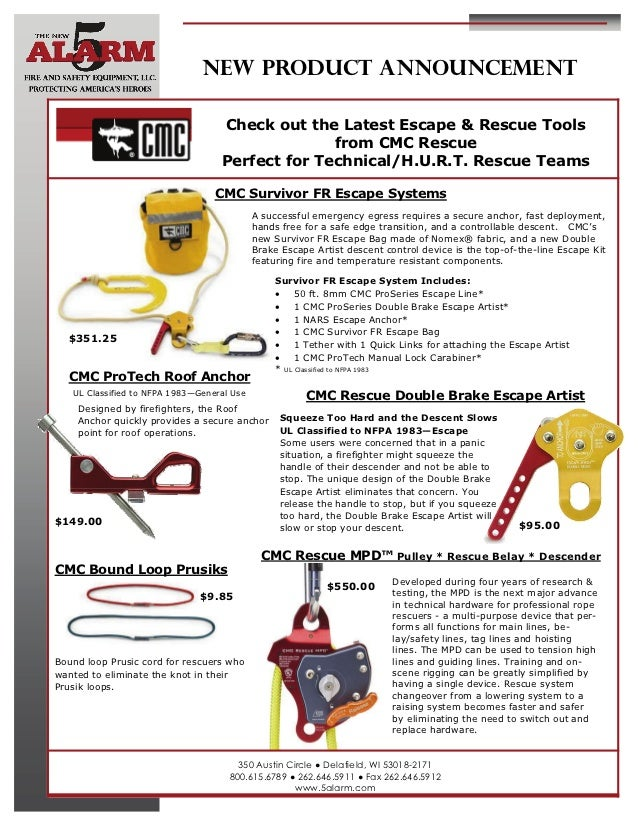 NEW PRODUCT ANNOUNCEMENT                                   Check out the Latest Escape & Rescue Tools                     ...