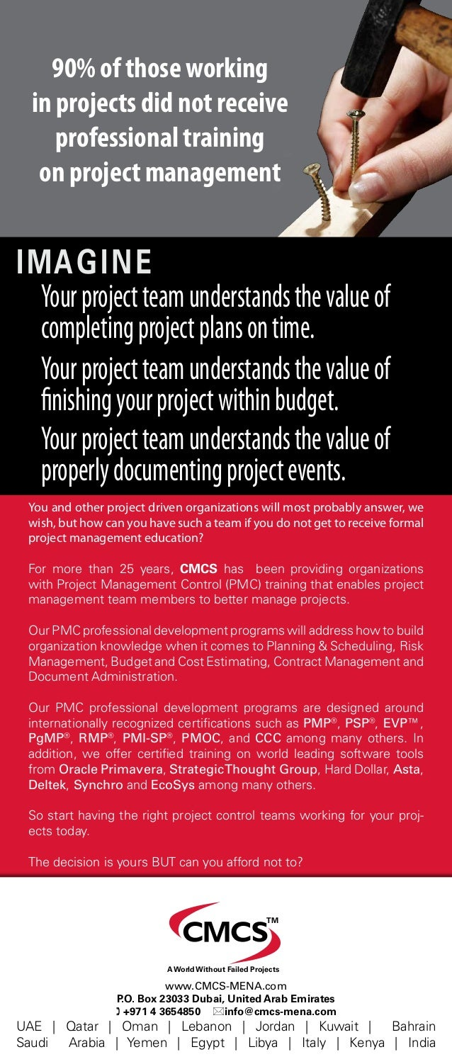 Imagine Yourprojectteamunderstandsthevalueof completingprojectplansontime. You and other project driven organizations will...