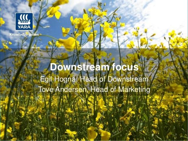 CMD 2012: Downstream Focus (Egil Hogna and Tove Andersen)