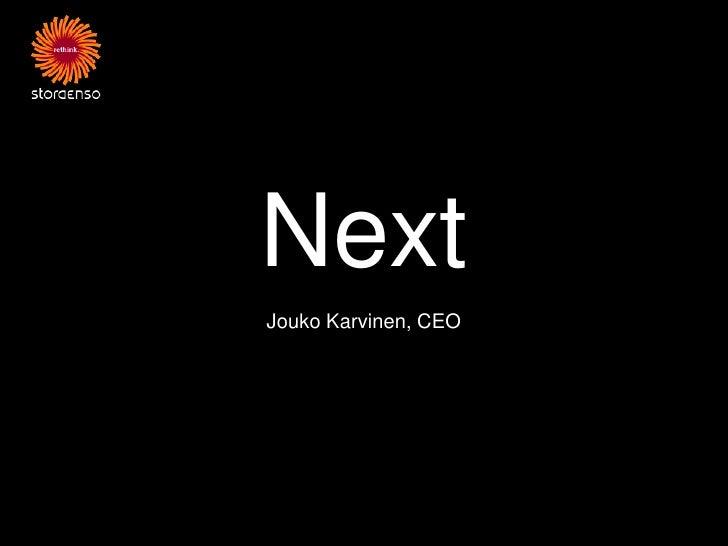 NextJouko Karvinen, CEO