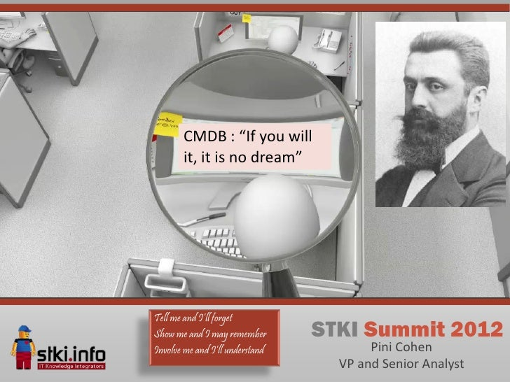 "CMDB : ""If you will       it, it is no dream""Tell me and I'll forgetShow me and I may remember       STKI Summit 2012Invol..."
