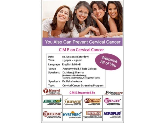 Cervical cancer kills 1 Indian  woman every 7 minutesBE AWARE, FIGHT CANCER• We at Recent Foundation believe in  creating ...