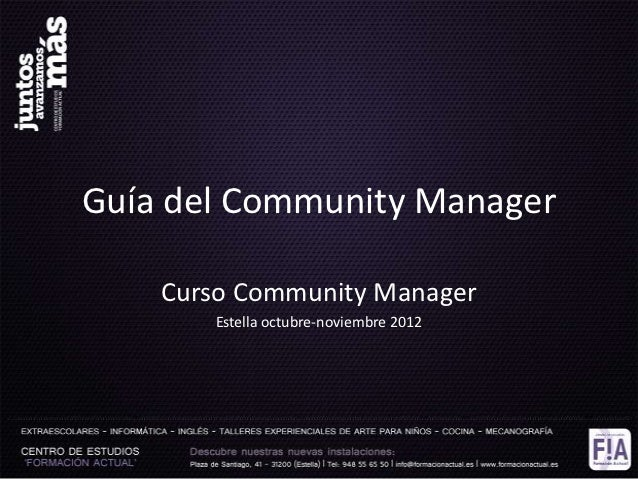 Guía Community Manager