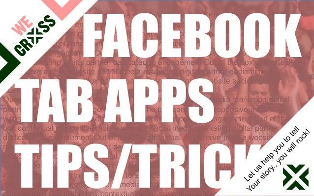 We Cross presentatie over Facebook tab apps