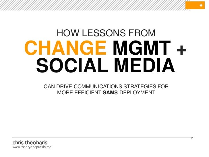 Change Management and Social Media: Lessons for Gov 2.0