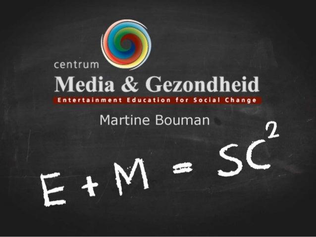 Ik vertel u graag meer! Martine Bouman Bouman@media-gezondheid.nl www.media-gezondheid.nl