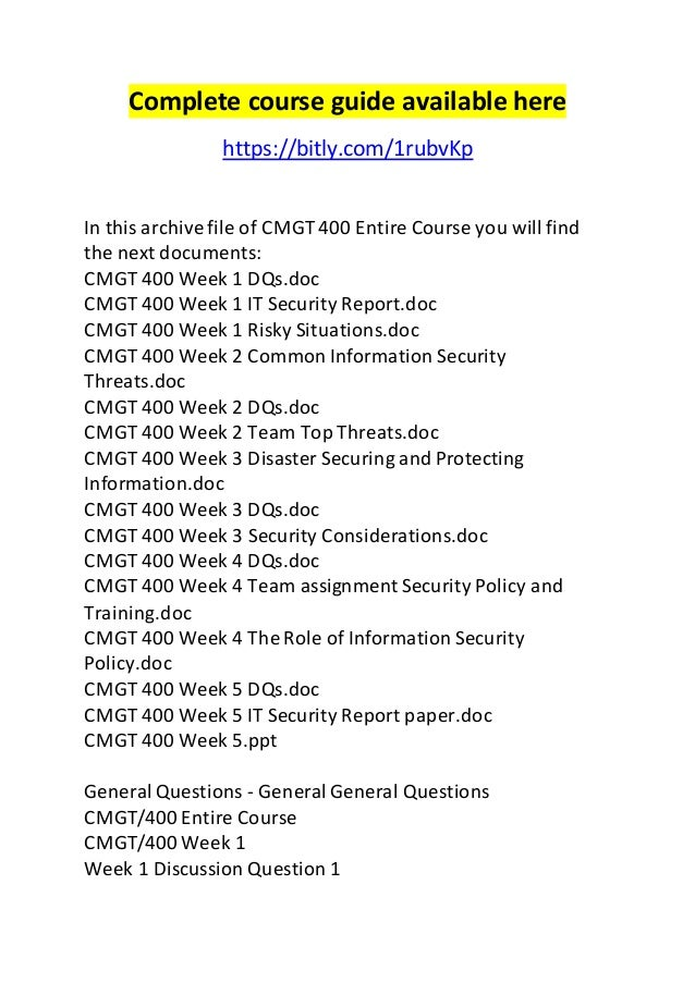 cmgt 400 securing and protecting information