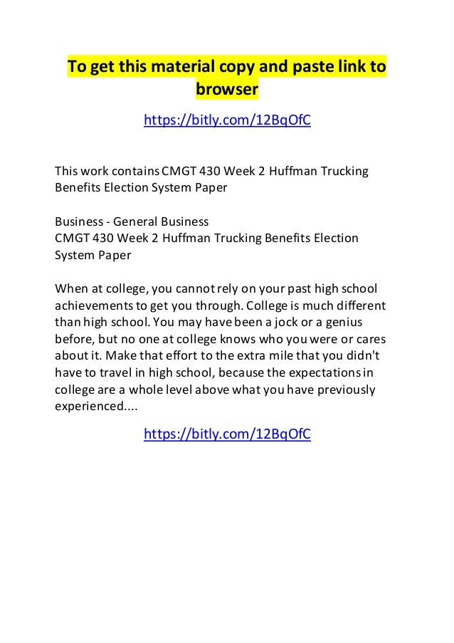 huffman trucking system inventory essay Former tennessee state education commissioner kevin huffman's frank account  of  operated by k12 inc to read k12 inc's full response to this essay, please  click here  a virtual school could game the funding system by opening shop in  a  in theory, k12, inc's stock should be hammered by its terrible.