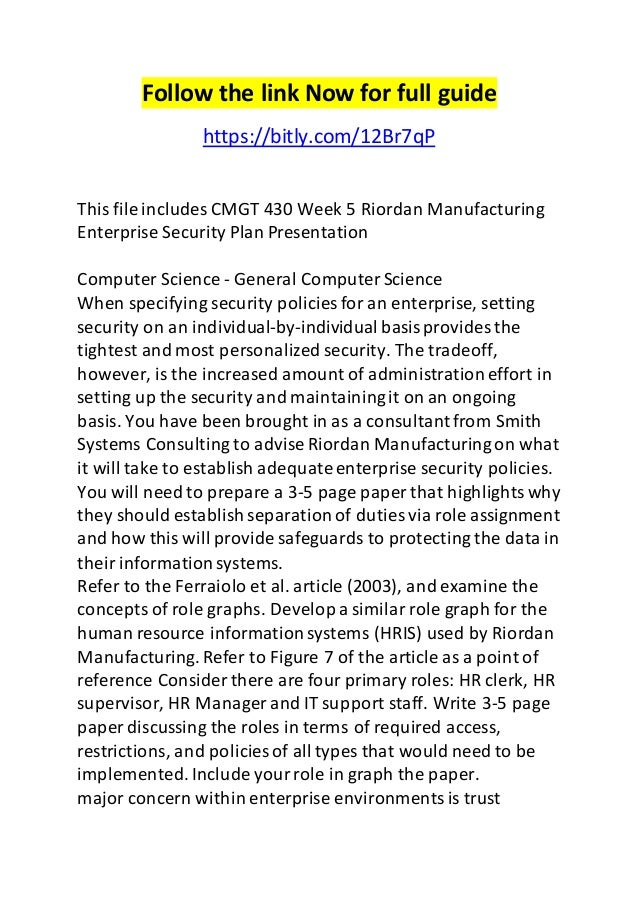 riordan implementation plan essay Riordan manufacturing executive report  a scm implementation can be considered as riordan's  biological warfare and health health and social care essay.