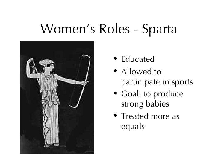 Women's role in Sparta Essay