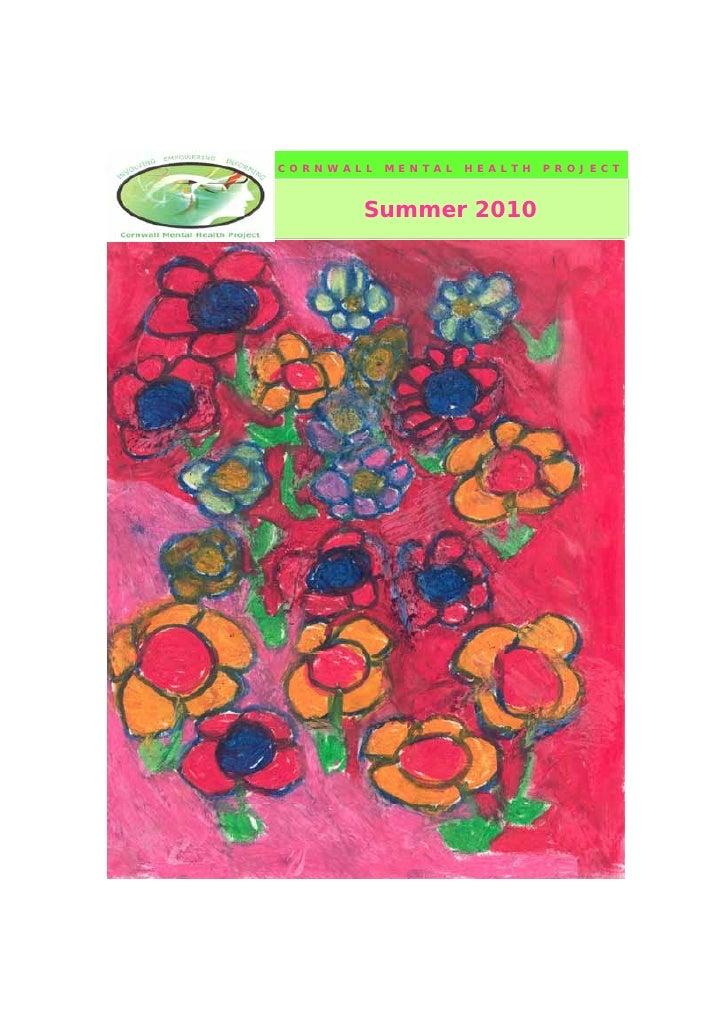 Cmhp summer 2010 newsletter