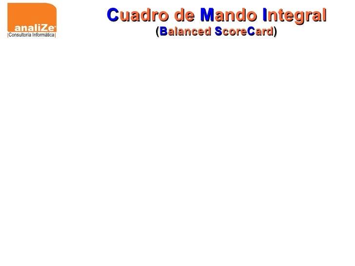 C uadro de  M ando  I ntegral ( B alanced  S core C ard ) [ Consultoría Informática ]
