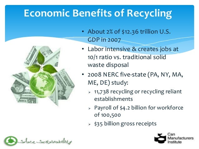 benefits of recycling essay Plastics recycling conserves natural resources, saves energy, and contributes to the economy recycled plastics are heavily used in manufacturing.