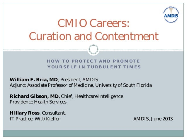 H O W T O P R O T E C T A N D P R O M O T E Y O U R S E L F I N T U R B U L E N T T I M E S CMIO Careers: Curation and Con...